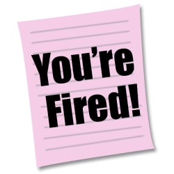 pink slip termination fired