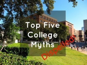 top five college myths