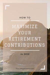 Maximize Your Retirement Contributions