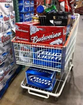costco shopping cart booze
