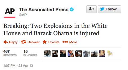 Fake AP News Tweet