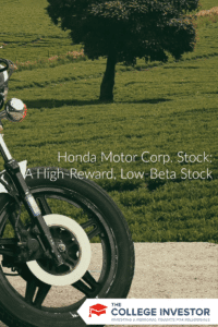 Honda Motor Corp. Stock: A High-Reward, Low-Beta Stock