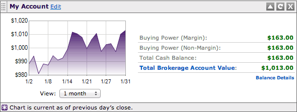 Account Balance January