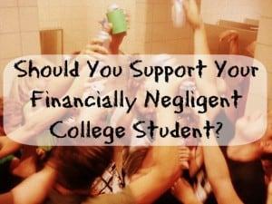 negligent college student