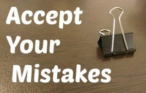 accept your investing mistakes