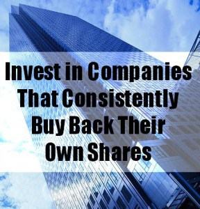 companies that consistently buy back their own shares