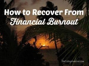 financial burnout
