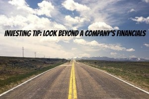 look beyond a company's financials
