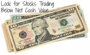 stock trading below net cash value