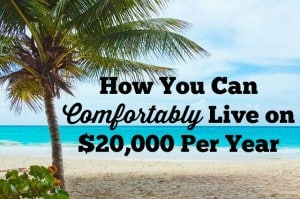 live on $20,000 per year