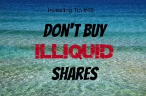 dont buy iliquid shares