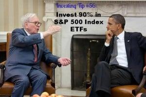 invest 90% in S&P 500 Index ETFs