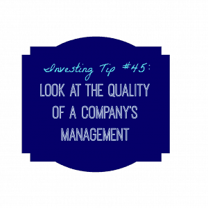 quality of a company's management