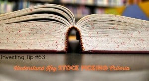 stock picking criteria