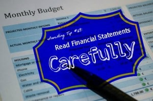 read financial statements carefully