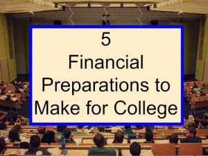 financial preparations for college