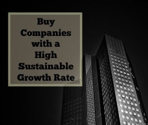 high sustainable growth rate
