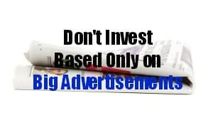 investing advertisements