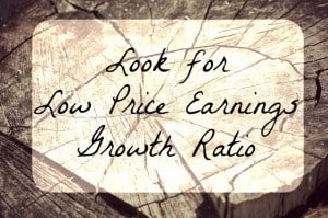 low price earnings growth ratio