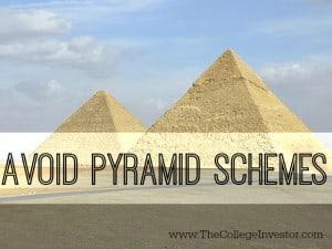 avoid pyramid schemes