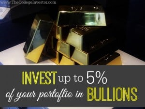 Invest up to five percent of your portfolio in Bullions to hedge against inflation.