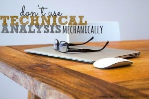 don't use technical analysis mechanically