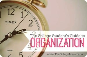 how to get organized as a college student