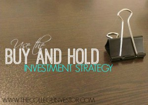 Adopt the buy and hold strategy for long term investing success.