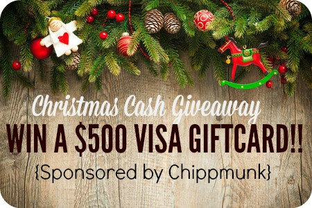 Christmas Cash Giveaway - Win a $500 Visa Gift Card!