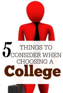 When it comes to picking a college your options are endless. It's so important that you choose wisely. Here are things to consider when choosing a college.