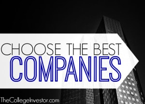 Choose the best companies.