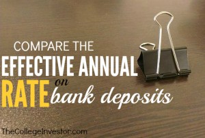 Compare the effective annual rate on bank deposits