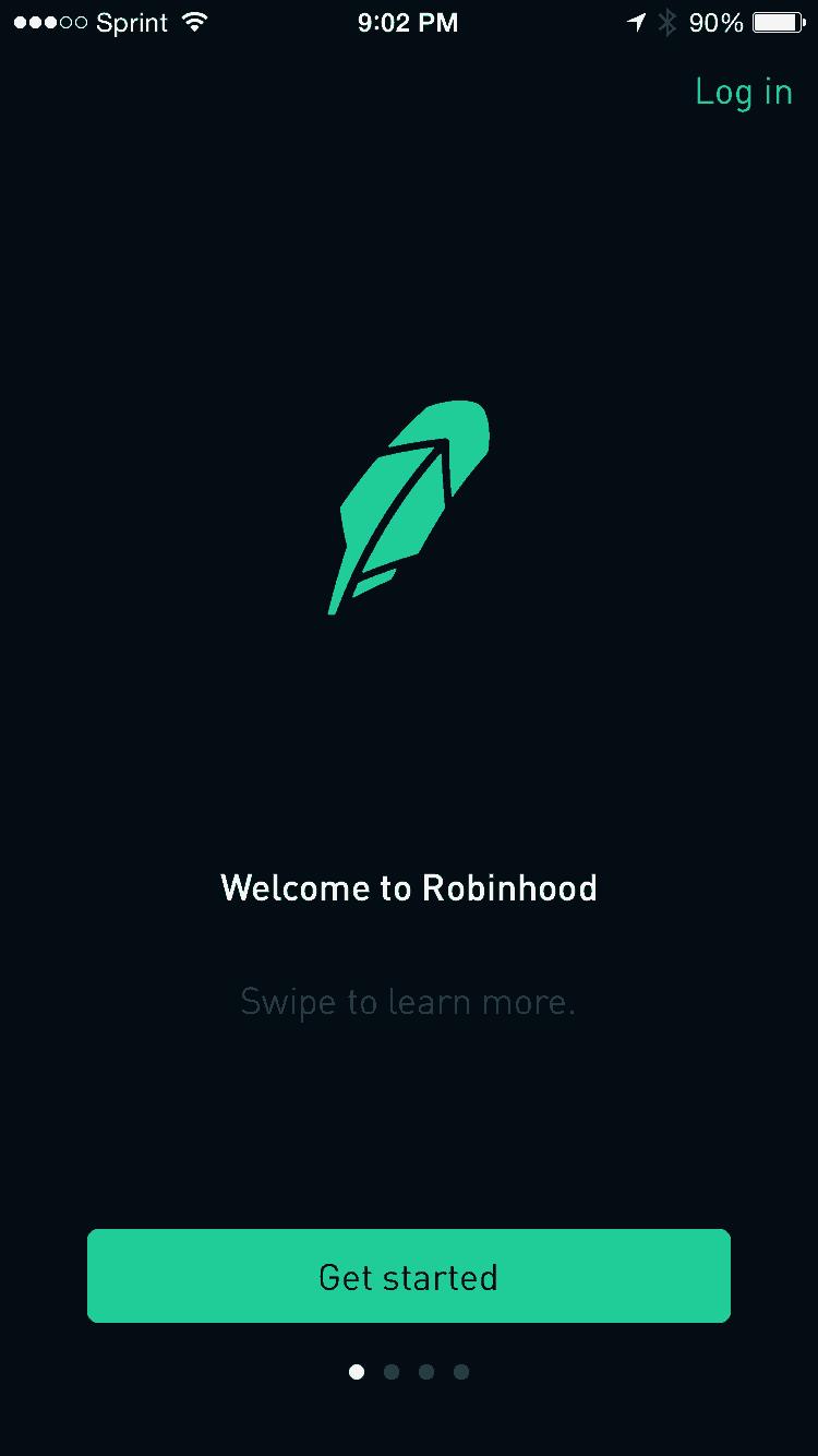 Robinhood Homescreen
