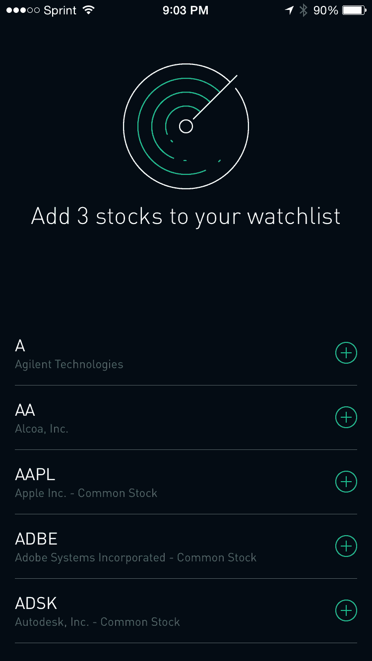 Robinhood Watchlist