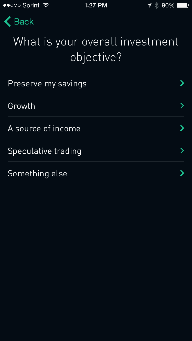 Robinhood Personalization Questions