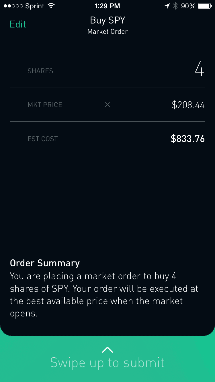 Robinhood Review Order