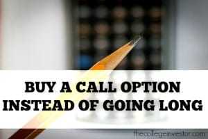 buy a call option instead of going long