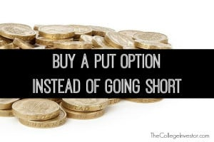 buy a put option instead of going short