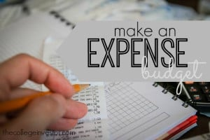 make an expense budget