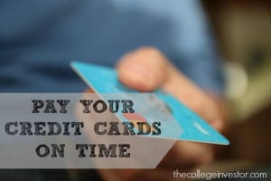 pay your credit cards on time