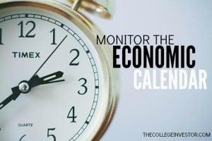 monitor the economic calendar