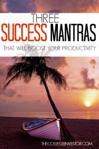 Do success mantras actually work? For me they absolutely do. By telling myself these three things I've been able to dramatically increase my output and productivity.