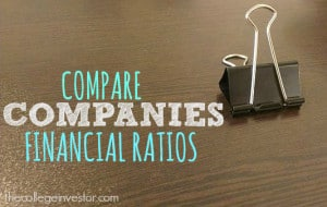 Compare companies financial ratios