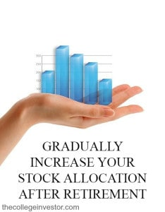 Gradually increase your stock allocation after retirement.