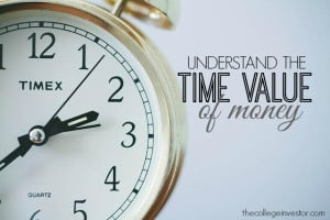 Understand the time value of money