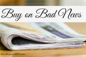 Buy on bad news