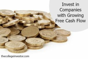 Invest in companies with free cash flow