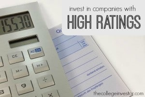 Invest in companies with high ratings