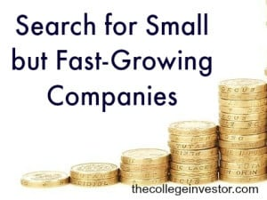 search for small but fast growing companies