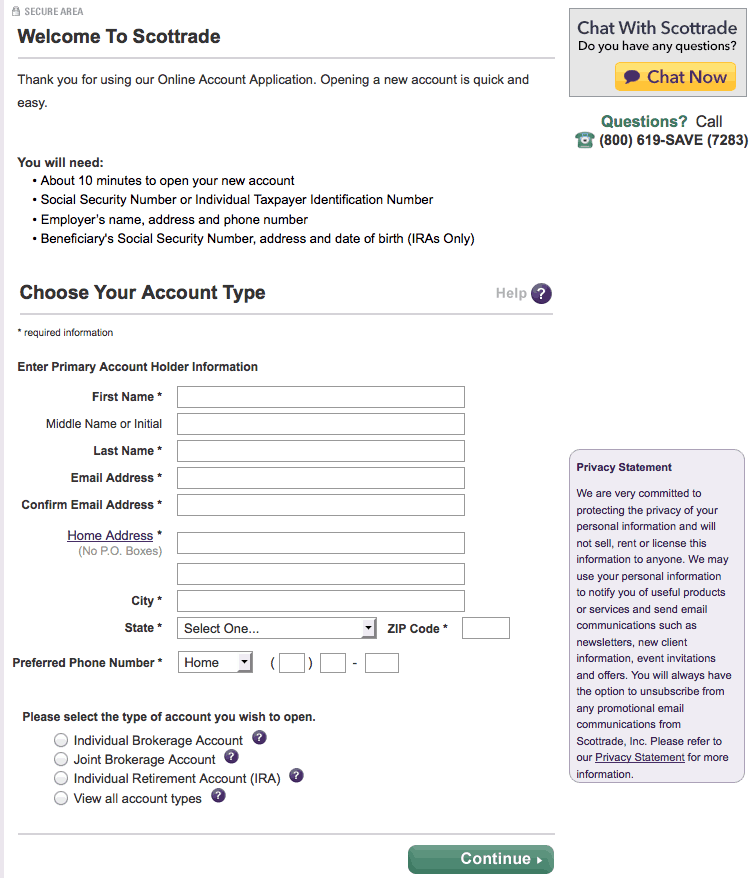 Scottrade Application